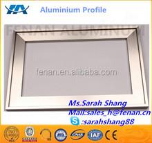 Picture frame aluminium extrusion 6063-T5 alloy , Snap frames aluminium manufacturer for advisement player frames