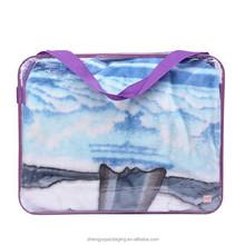 transparent pvc plastic quilt blanket packaging bag with long handle wholesale