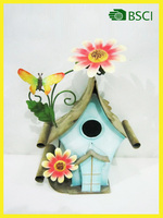 Metal handicraft wall mounted chinese bird house