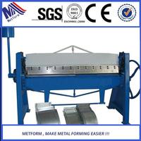 WH06-2.5x1220 manual sheet metal bending folding machine from factory