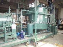 Dark black engine oil purifier,motor oil refining machine