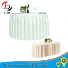 Foshan Modern Design Banquet Polyester Table Skirts