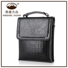 On Line Shopping Hongkong Mens Cheap Leather Messenger Bag With Tote