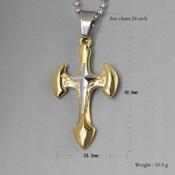 Stainless Steel Cross Jewelry Dubai Gold Pendant Designs Men Wholesale China