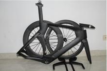 Carbon road bike TT frame P5 Time trial frameset Bicycle frames ,TT bar and stem