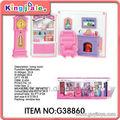 muebles de plástico de casa de muñecas en miniatura