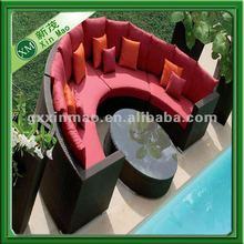 semi-circle shape modern outdoor furniture 2012