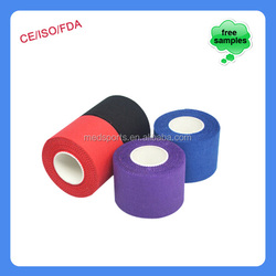 China Supplier Foot ball cotton zinc oxide strapping latex free rigid sports tape