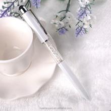 advertisement custom printed pens white custom logo White transparent ball pen