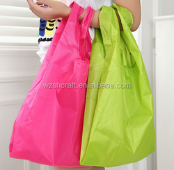 Wholesale Cheap Reusable Grocery Shopping Nylon Tote Foldable Bag