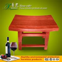 Elegant design outdoor backless wooden bench