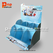 professional art paper makeup display counter for cosmetic mask promotion
