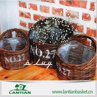 2015 hot sale Foldable folding flexible wicker garden basket