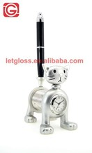 Mini Cat Design Table Clock with Pen stand