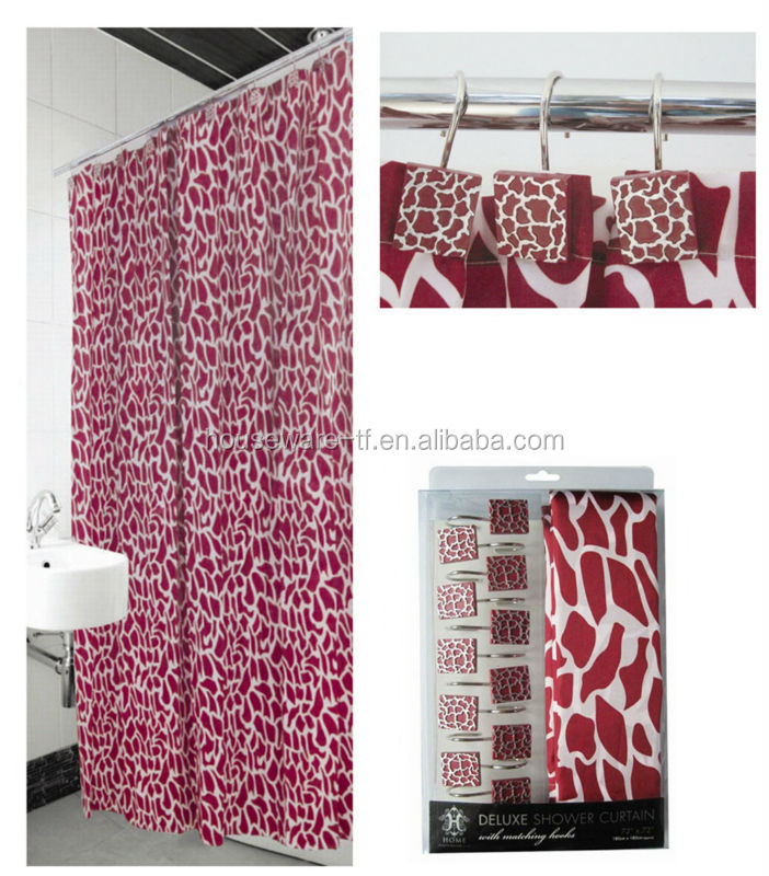 Using Hotel printing Fabric bathroom shower curtain sets;new design ...