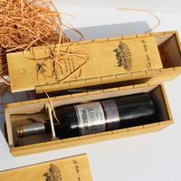 Single bottle wooden wine box for sale, paulownia wine box, cheap wooden wine box