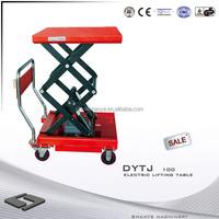SHANYE DYTJ-S100 electric walking machine scissor lift table