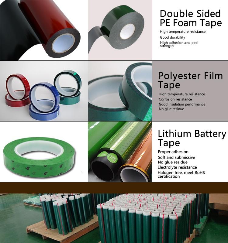 180C verde Resistente Ao Calor Nenhum Resíduo Masking fita Adesiva De Silicone do Poliéster