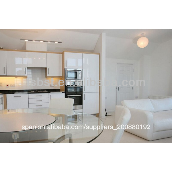 De alto brillo blanco mdf gabinete de cocina caliente de for Gabinetes de cocina en mdf