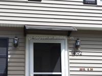Window Shade Awning,Sliding Door Rain Awnings With Aluminum Support