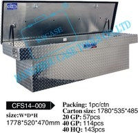 All-welded aluminum tool case/truck box