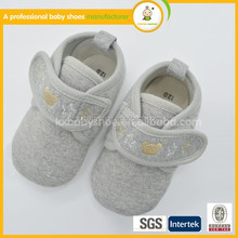2015 best selling High quality low price and fashion American cotton fabric cheap baby shoes