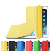 Yellow 2015 Factory promotion new products Folding cover for iPad Air 2