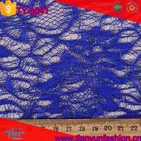 lurex spun nylon upholstery metallic floral navy blue lace fabric for fashion dress