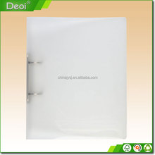 Custom A3 A4 A5 size PP plastic Economy clear 20 pockets ring binder display book with 0.5 Inch Round rings made of sand surface