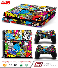 games Skin Sticker Decal For PS4 Console New Controller Skins