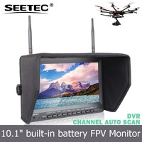 wholsale 10.1 inch fpv monitor hdmi built-in battery and 32ch receiver dual av 5.8ghz wireless remote control car with camera