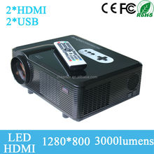 Newest cheap price 150W 3000 lumens 50000H life digital video projector projectors portable multimedia port for home theater