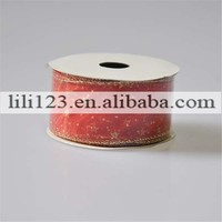 wholesale red outdoor christmas gift ribbon for decoration