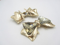 Modern Design Decorative Shoe Bows and Buckles With Crystal Glass