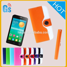 Funda de cuero cartera mágica para teléfono móvil para alcatel one touch pop D3 4035 x 4037A