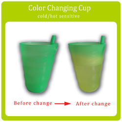 Disposable Cup Color Changing Plastic Cup With Straw