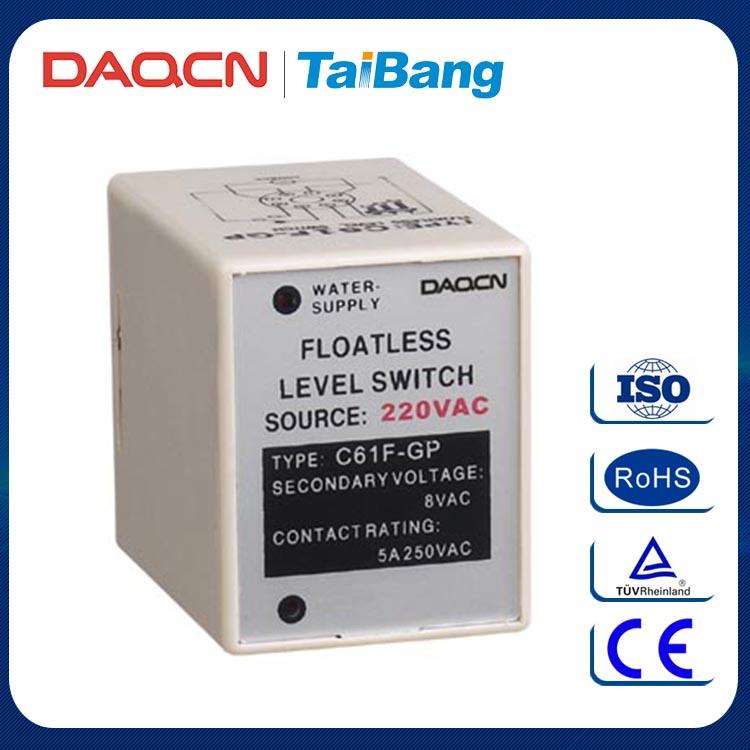 DAQCN 뜨거운 판매 C61F-GP AC220V 8 핀 액체 Floatless 레벨 스위치 컨트롤러