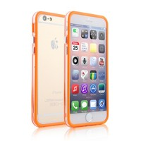 Color Rubber TPU Clear Crystal Bumper For iPhone 6 Plus