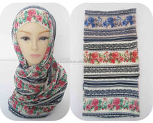 wholesale fashion classic chiffon pashmina Printed Floral Women scarf Shawl Wrap-Manufacturer P.healthy