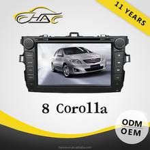 8 inch windows car gps radio for toyota corolla with usd sd ipod bluetooth