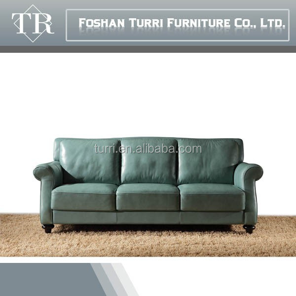 2015 Latest Living Room Chesterfield 3 2 1blue Leather