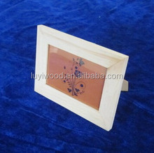 unfinished wooden photo frame wholesale for decoration