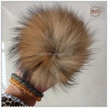 13cm Big Genuine Raccoon Fur Pompons
