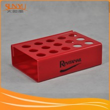 15 slots durable silk screen ptingting logo red acrylic lipstick stand display from China direct factory