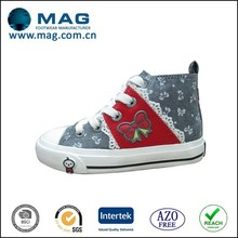 Albaba china beautiful baby girl shoes wholesale high heel canvas tennis shoes for children