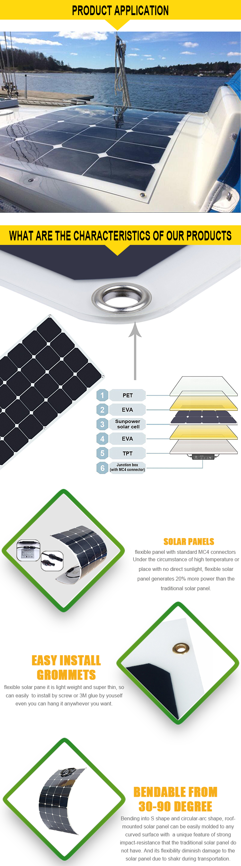 Roll Up Solar Panel 50w 64w 12v 24v 36v Marine Sun Power Wiring Diagram Costom Made Flexible