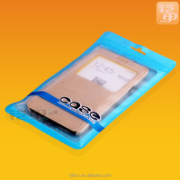 one side clear cheap zipper bag for smart phone accessories B-02
