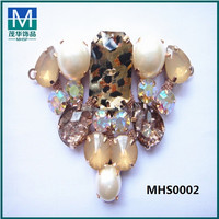 2015 new design rhinestone shoe jewelry , shoe clips for boots buckles MHS0002