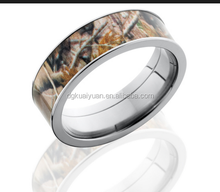 Titanium Real Tree Camo Wedding Rings Camouflage Gear Durable Hunters Rings Camo wedding bands