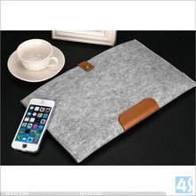 "Best quality wool felt bag smart cover tablet pc case for macbook 12"" laptop"